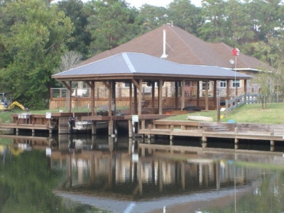 Great double boat house.